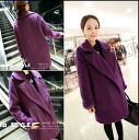 Short coat vapor‑deposited womens clothing tailored BIG jacket simple clean because adults commute purple ◎ order today will ship 8/12