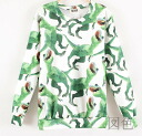 Long sleeve trainer crew neck ladies sweat tops General print dinosaur pattern round neck casual stylish ◎ order today will ship 6/11