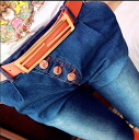 Denim pants jeans long pants Womens casual USED fading process Blue: order today will ship 6/26