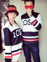 Long sleeve trainer crew neck sweat tops logo print celebrity round neck loose large long casual simple Manish color scheme: order today 4/6 will ship