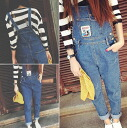 Overalls Womens denim overalls all-in-one cropped roll-up bottoms high waist all season casual ◎ order today will ship 3/20