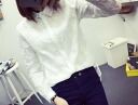 Embroidered long sleeve blouse blouses Womens tops simple plain white girly cute elegant sweet neat and clean forest girl ◎ order today will ship 4/6