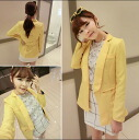 Tailored jacket women's outerwear coat clean formal casual order rose yellow vivid color ◎ order today will ship 6/1