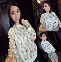 Cute long sleeve trainer crew neck sweat tops logo selenge celebrity round neck pattern print see-through adult ◎ order today will ship 4/9