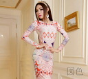 Maxi dress long sleeve tight General trumpet/Mermaid strapless Maxi-length one-piece long-length long WMP stretch sexy ◎ order today will ship 6/26