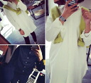 Classy long sleeve blouse women's shirts sewn plain long-length tunic Office white white black Black adults: order today will ship 6/16
