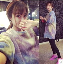 Trainer crew neck sweat top pullover tops long-length tunic loose pastel unisex ◎ order today will ship 7/3