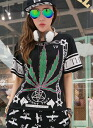 Casual T shirts short sleeve women's tops sewn print round collar crew neck medium-length casual rock style gown ◎ order today will ship 5/7