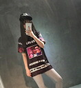 Large print T shirt Womens Short Sleeve Tops shirts tops casual printed Street Dance loose silhouettes hip-hop ◎ order today will ship 5/13