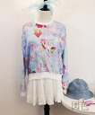 Cute long sleeve trainer crewneck sweat tops neck casual General print pastel unicorns retro CUTE adult ◎ order today will ship 8/19
