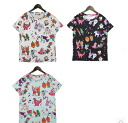 Print T shirt ladies Short Sleeve Tops shirts tops casual General multi-color animal multicolor selenge adult cute retro character ◎ order today will ship 5/7