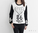 Tops trainer long sleeves pullover diamond letters logo numbers logo-to-tone black and white color • order today will ship 7/7