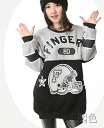Loose sweat tops women's long sleeve trainer English-language logo monotone switching long one-piece style numbering: order today will ship 8/11