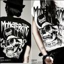 Men's short sleeve black skull print t-shirt ladies Black street back hip hop HIPHOP logo letters casual COOL ◎ order today will ship 6/26
