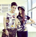 Print T shirt Womens short sleeve sleeve U neck crew neck anime adult casual General casual graffiti Street • order today will ship 6/1