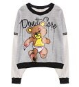 Long-sleeved sweatshirts women's trainer pullover tops logo American comic print loose BIG silhouette rock punk • order today will ship 6/26