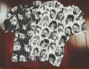 Funny t-shirts! ladies ' short-sleeved adult casual U neck top outdoor face print photo Vintage Celebrity ◎ order today will ship 6/8