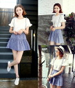 Cute short sleeve T shirt sewn tops freascatmini set up women's spring summer flare sleeves natural girly casual ◎ order today will ship 6/19