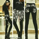 Wanted beauty line skinny pants monotone design bottoms long skinny ◎ order today will ship 7/22