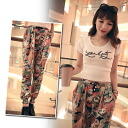 Fukuoka women's harem pants tapered pants Womens satin General would handle legs skinny pants fun Chin loose silhouettes dance • order today will ship 8/10