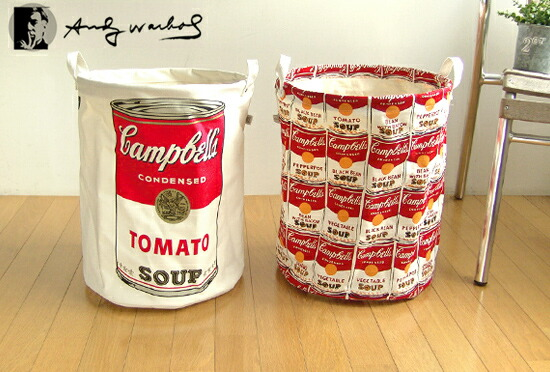 Pilier Round L [Andy Warhole × campbell's]  ピリエ ラウンドバスケット [アンディ ウォーホル×キャンベルスープ缶]