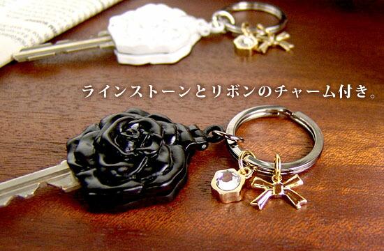 メタル キーカバー/ キーホルダー ROSE [ローズ]