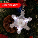 KIKKERLAND noisey light snow crystals SNOW CRYSTAL LED keyring (S)