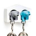 Qualy DUO Elephant Key Ring quarry duo elephant killing past [Keyring whistles] (-)