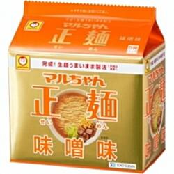 あす楽東洋水産マルちゃん正麺味噌味(太麺)(104g×5食パック)×6個入り