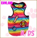 Emyland / boys Rainbow tank 2161 / M / DS / Emmy land //5000 yen or more in /P27Mar15 / / dog clothing for spring summer tank top/patch/colorful/smile / /