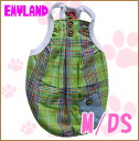 Emyland / bright check PKK with tank 2162 / M / DS / Emmy land / / 5,000 yen or more at / / dog clothing for spring summer / / tank top / button / Pocket