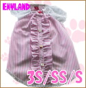 Emyland / pink stripe pahuwampi 2170 / 3S/SS/S / EMI land / / 5,000 yen or more with / / dog clothing / spring summer for one piece flowers / stripes / racing / frills and