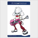 Large original PUNK ★ POODLE sticker (bass)