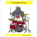 Original PUNK ★ POODLE sticker (drum) small poodle / miscellaneous goods / seal / sticker / stationery / goods / dog / dog