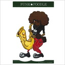 In the original PUNK ★ POODLE sticker (saxophone)