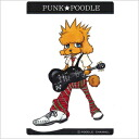 Original PUNK ★ POODLE sticker (guitar) great poodle / gadgets / seals / stickers / stationery / toy / dogs / dog