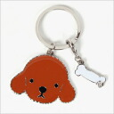 We walk together REAL DOG toy poodle metal key ring
