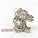 Poodle beads key chain