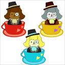 Teacup poodle Baron stickers