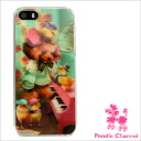 Lapel do リド iPhone5/5s cover poodle & chick poodle / miscellaneous goods / mobile /iPhone5/iPhone5s/3D/ hardware