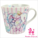 Mug salmon pink animal parade poodles / poodle / gadgets / pottery / coffee cup / mug / toy / painting kittens