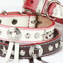 K. Collection western color (SS, S M) RN-009 dog / dog / pet / collar / harness / leather / leather