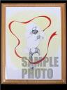 Yamamoto Yoko decoupage (small) 01 'リボンプードル' poodle gadgets pictures / toy / dogs / dog / painting / amount