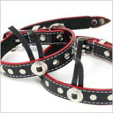 K. Collection western color black (SS, S, medium size) RN-006 dog / dog / pet / collar / harness / goods