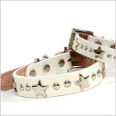 K. コレクションリルスターカラーシロ (small size) N-056 dog / dog / pet / collar / harness / goods