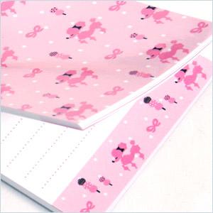 プードル柄/ピンク