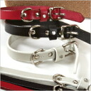 K. Collection oil leather collar (SS size) n-065 / dog / pet / collar / harness / dog