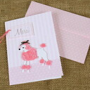 Merci greeting card poodle poodle / gadgets / card / greeting card and stationery / toy / dogs / dog