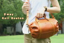 Porco Rosso/japlish leather boston bag (M)