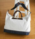 Wood Zhuang canvas 2-WAY bag fr-ki